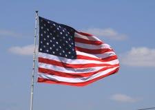 Volo della bandiera americana Fotografie Stock