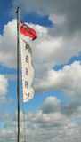Volo della bandiera del traghetto in una tempesta Fotografia Stock Libera da Diritti