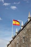Volo della bandiera dello Spagnolo Fotografia Stock