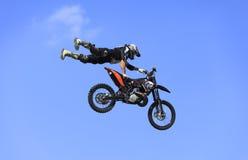 Volo della bici Fotografie Stock
