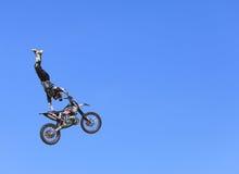 Volo della bici Fotografia Stock