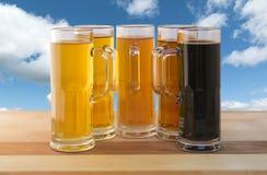 Volo della birra Fotografie Stock Libere da Diritti