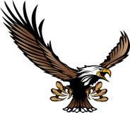 Volo della mascotte dell'aquila con le matrici e le ali