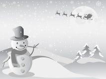 Volo della Santa per il natale Immagini Stock
