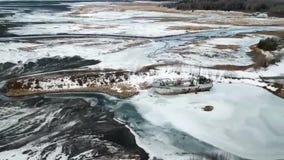Volo dentro per abbandonare naufragio nell'Alaska video d archivio