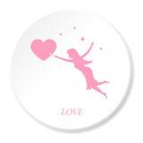 Volo di amore royalty illustrazione gratis