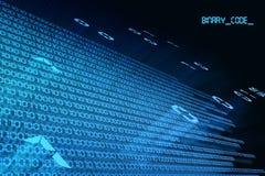 Volo di codice binario immagini stock libere da diritti