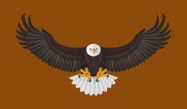 Volo di Eagle calvo, illustrazione di vettore royalty illustrazione gratis