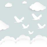 Volo di forma dell'uccello con il ritaglio di carta Fotografia Stock Libera da Diritti