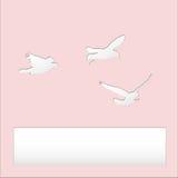 Volo di forma dell'uccello con il ritaglio di carta Immagine Stock Libera da Diritti