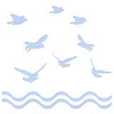 Volo di forma dell'uccello con il ritaglio di carta Fotografia Stock
