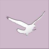 Volo di forma dell'uccello con il ritaglio di carta Immagini Stock