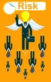 Volo di Glory Businessmen con ali illustrazione di stock