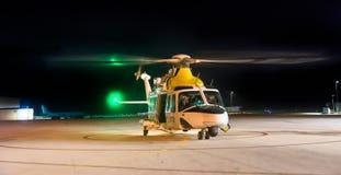 Volo di notte Fotografie Stock Libere da Diritti