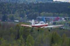 Volo giorno 11 maggio 2014 a Kjeller (airshow) Immagini Stock Libere da Diritti