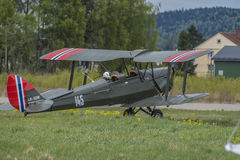 Volo giorno 11 maggio 2014 a Kjeller (airshow) Fotografie Stock Libere da Diritti
