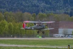 Volo giorno 11 maggio 2014 a Kjeller (airshow) Immagine Stock