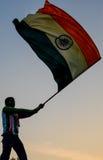 Volo indiano della bandiera Immagine Stock Libera da Diritti