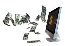 Volo laterale del dollaro Fotografia Stock Libera da Diritti