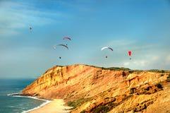 Volo libero vicino al mare Fotografia Stock