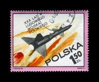 Volo militare del missile, Immagini Stock