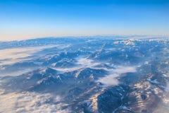 Volo nel Madera sopra la Spagna Immagine Stock
