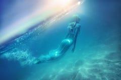 Volo nell'oceano Fotografie Stock Libere da Diritti