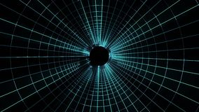 Volo qualità del tunnel di griglia delle luci fuori al neon nella nuova di moto dei grafici di animazione del ciclo senza cucitur royalty illustrazione gratis