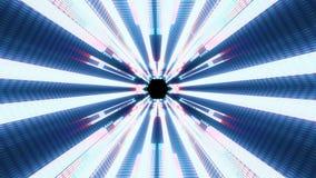 Volo qualità di dati delle luci fuori al neon nella nuova del vr del tunnel di moto dei grafici di animazione del ciclo senza cuc illustrazione vettoriale
