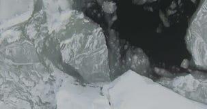 Volo sopra il mare Glaciale Artico stock footage