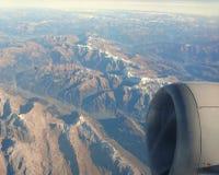 Volo sopra le alpi Fotografia Stock Libera da Diritti