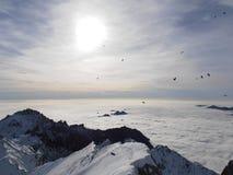 Volo sopra le nubi Fotografie Stock