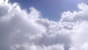 Volo sopra le nuvole stock footage