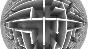 Volo sopra un grande labirinto, vista del fisheye Animazione di Loopable video d archivio
