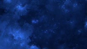 Volo spaziale attraverso la nebulosa a spirale
