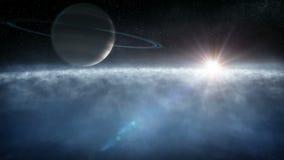 Volo spaziale orbitale illustrazione vettoriale