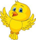 Volo sveglio del fumetto dell'uccello Fotografia Stock Libera da Diritti