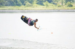 Volo Wakeboarder fotografie stock