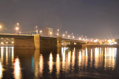 Volodarsky Bridge at night. Royalty Free Stock Photo