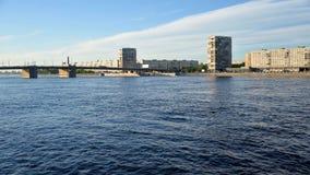 Volodarsky Bridge in St.Petersburg. stock video footage