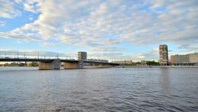 Volodarskybrug in St. Petersburg stock footage
