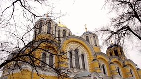 Volodymyrskyi Cathedral in Kyiv Kiev Ukraine stock video footage