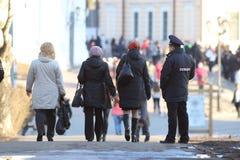 Vologda, †«10-ое марта РОССИИ: Русские полицейские в охранять 10-ого марта 2014 Стоковая Фотография RF