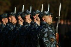 """Vologda, †della RUSSIA """"8 maggio: Prova generale della parata militare in Vologda l'8 maggio 2014 fotografia stock"""