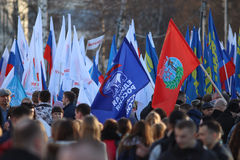 Vologda, στις 10 Μαρτίου της ΡΩΣΙΑΣ â€ «: επίδειξη της Κριμαίας στη συγκέντρωση της Ρωσίας στις 10 Μαρτίου 2014 Στοκ εικόνες με δικαίωμα ελεύθερης χρήσης