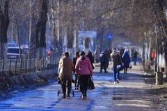 Vologda, στις 10 Μαρτίου της ΡΩΣΙΑΣ â€ «: πλήθος των ανθρώπων στην οδό, πεζοί στις 10 Μαρτίου 2014 Στοκ εικόνα με δικαίωμα ελεύθερης χρήσης