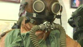 Vologda Россия февраль 2017: манекены в мокрых одеждах Снаряжение для подводного плавания акции видеоматериалы