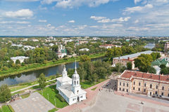 Vologda bird's eye view Stock Photography