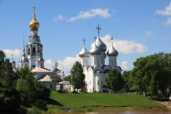 Vologda historic center. This is a historic city center with the cathedrals St. Sophia, church Alexander Nevsky and the bell tower of the Kremlin May 27, 2013 in Royalty Free Stock Photography