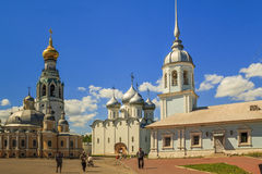Vologda historic center. This is a historic city center with the city's main cathedrals and churches: St. Sophia, Resurrection, Alexander Nevsky and the bell royalty free stock image